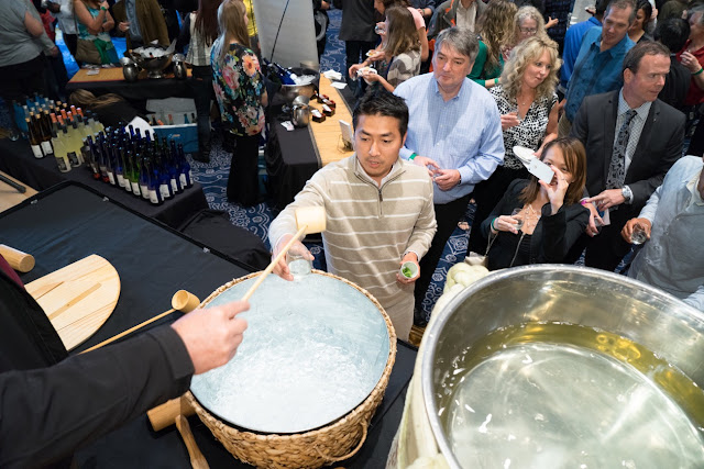 Sampling Sake at the annual Sake Fest in Portland