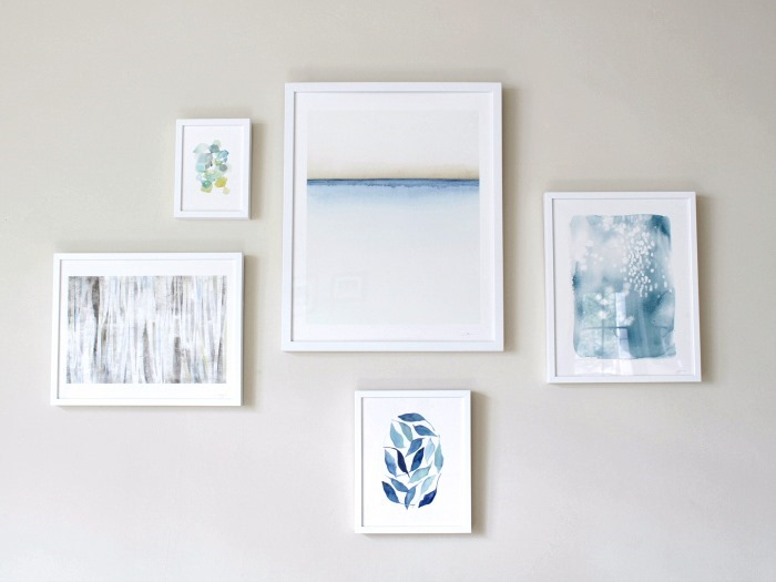 Minted Wall Gallery Blue Tones