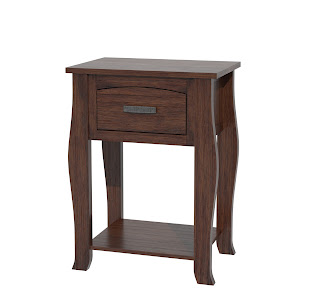 cascade nightstand with shelf