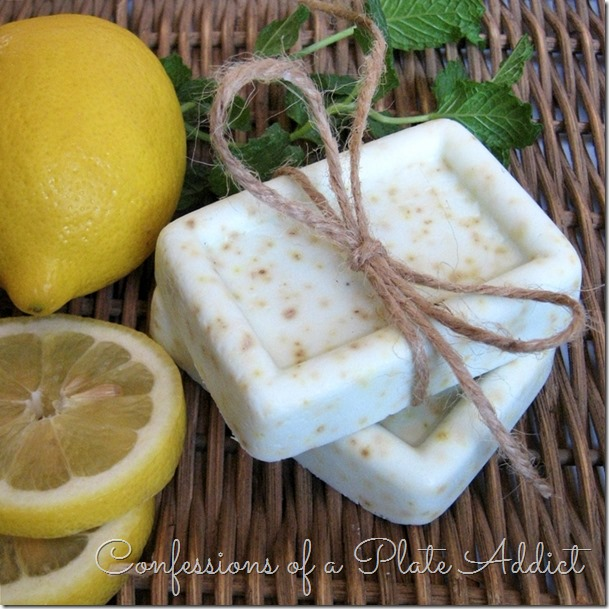 CONFESSIONS OF A PLATE ADDICT 5 Minute Lemon Verbena Goats Milk Soap