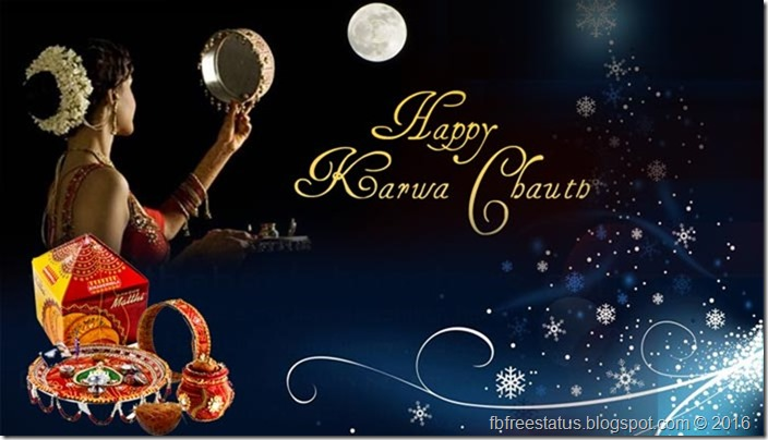 Happy-Karwa-Chauth-2015-Woman-Looks-On-Moon-Picture
