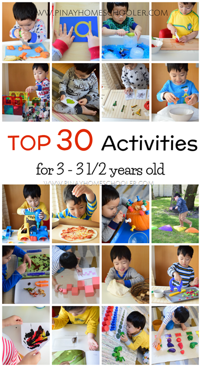 Top 30 Learning Activities for 3 to 3.5 Years Old