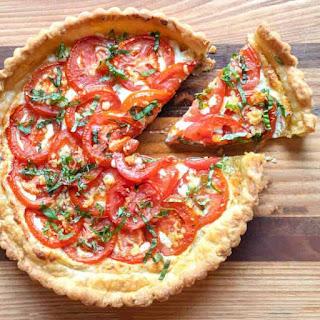 Fresh Tomato Ricotta Tart in Puff Pastry Recipe