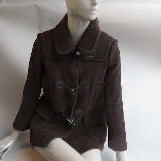 Burberry London Brown Wool Coat