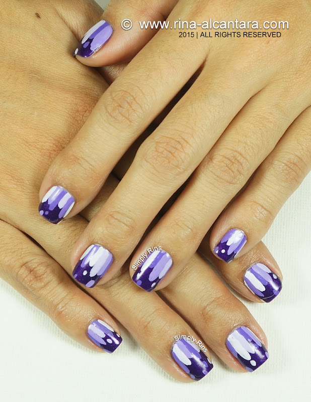 Violets are Blue Nail Art Design by Simply Rins