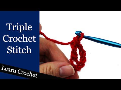 How to Triple Crochet Stitch @ Crochet Treasures