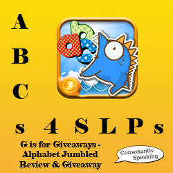ABCs 4 SLPs: G is for Giveaways - Alphabet Jumbled Review and Giveaway image