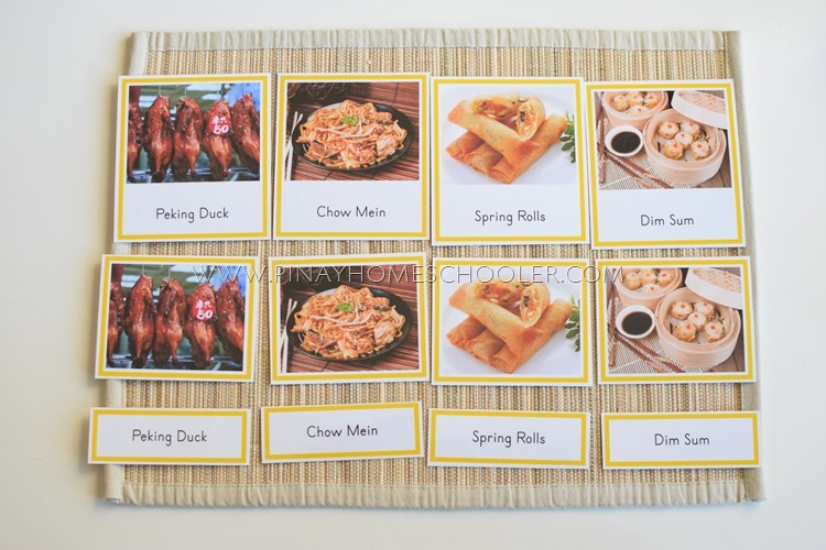 Asian Cuisine Learning Pack Printable