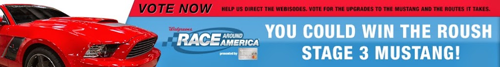 Walgreens Race Around America Sweepstakes - Win a ROUSH Stage 3 Mustang! #RaceAroundAmerica