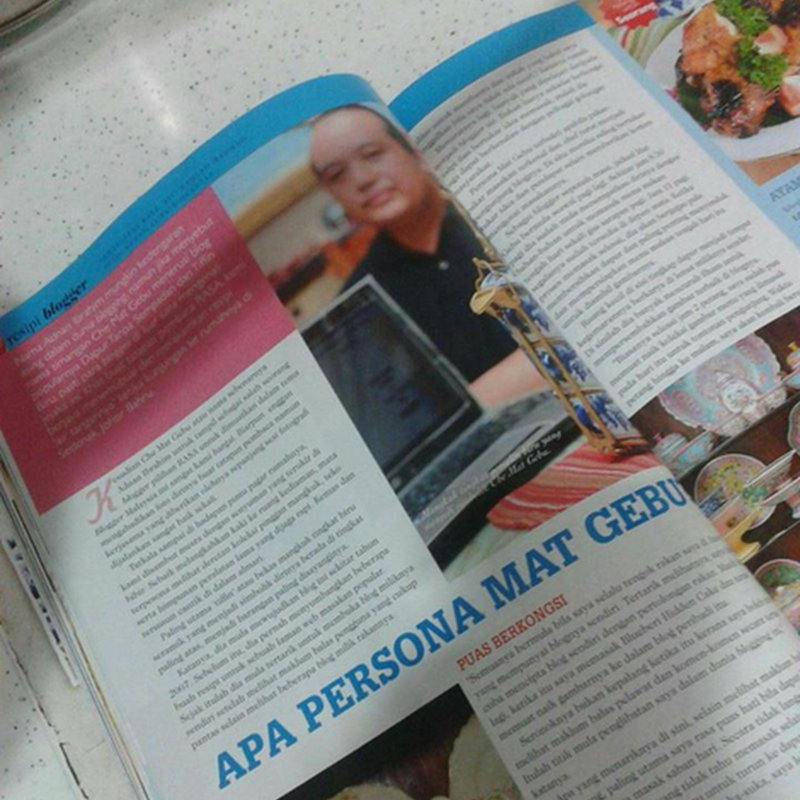 Nak tengok muka blogger masakan terkenal , Mat Gebu aka Adnan Ibrahim ?