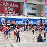 Rogers Centre is the home of the Toronto Blue Jays baseball team in Toronto, Ontario, Canada
