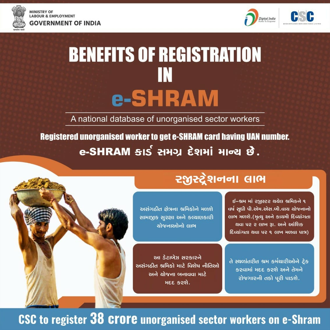 What is e Shram Portal? who will get benefit. know full details