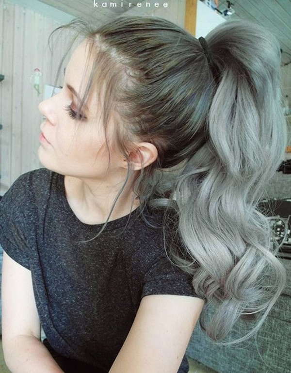 lovely women ponytail hairstyles for long hair 2018