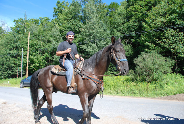 Everyone has a greattime riding at our Stables. We have the best horses in the Adirondacks!