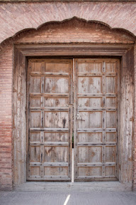 Another old but preserved door in use