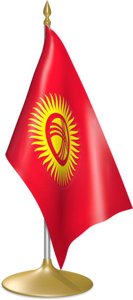 Kyrgyzstani table flags - desk flags