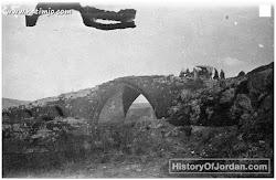 جسر المجامع يربط الباقورة بالحمه السورية ، اثناء الحرب العالمية الأولى