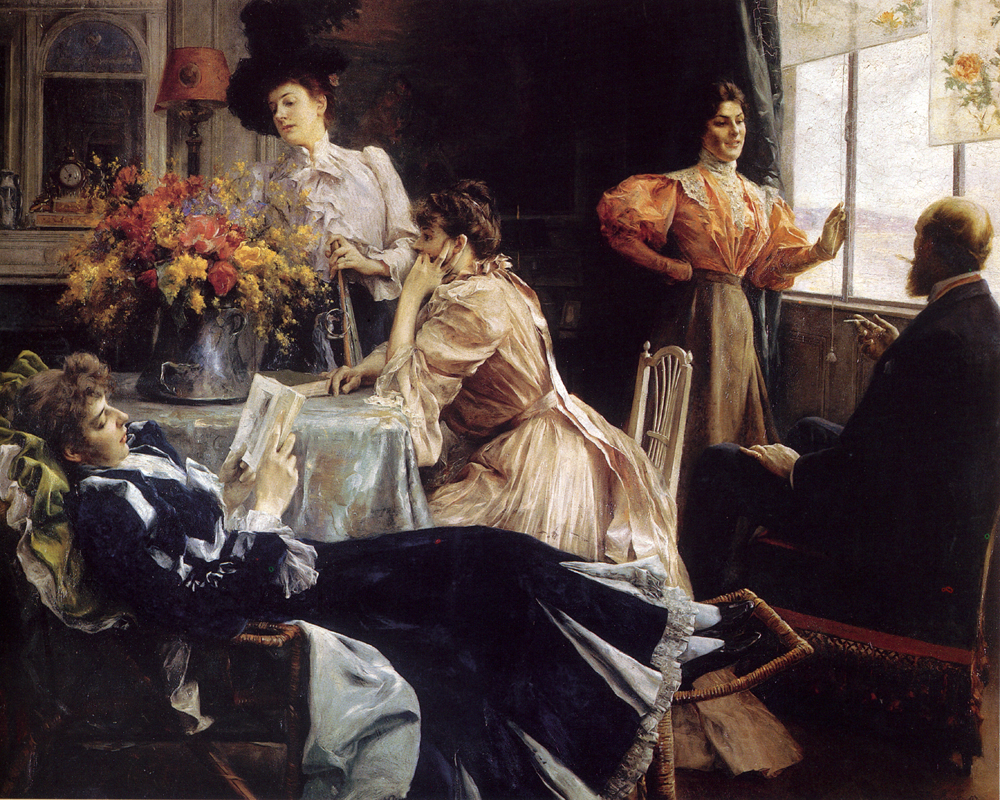 Julius LeBlanc Stewart - At Home
