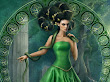 Green Witch With Snake