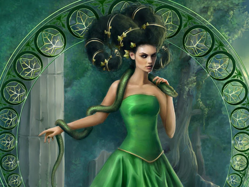 Green Witch With Snake, Green Witches