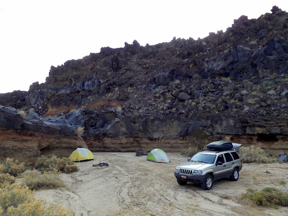 Camp in Black Tank Wash at Cinder Cone Lava Beds