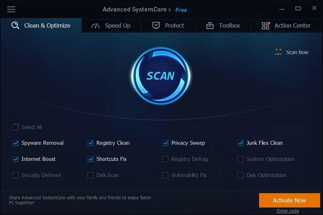 تحميل برنامج تسريع وتنظيف الويندوز Advanced SystemCare Free 9.2.0.1110