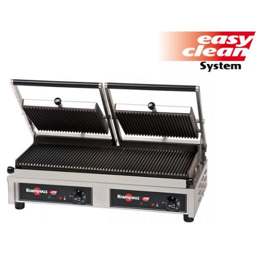 GECID5 Piastre panini contact grill con area cottura 52 x 23