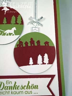 Stampin' Up! - Tausend Dank, Lots of Thanks, Edgelits Sleighride, Schlittenfahrt, Sparkly Seasons, Im Rahmen der Feiertage, Christmas, Weihnachten, Banner