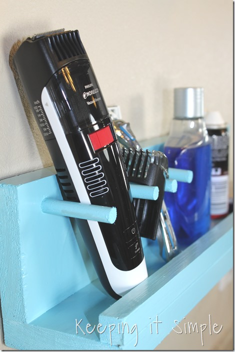 #ad DIY-bathroom-shelf-for-razor-and-beard-trimmer #GiftofPhillips  (34)