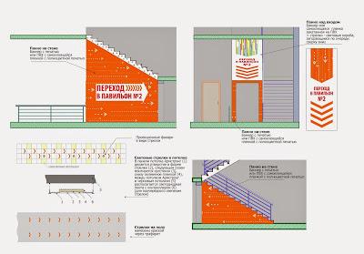 Оформление перехода во второй павильон Центра товаров для дома и ремонта Радуга-Экспо, подробнее -http://www.pawelldesign.ru/Home/interior_3D