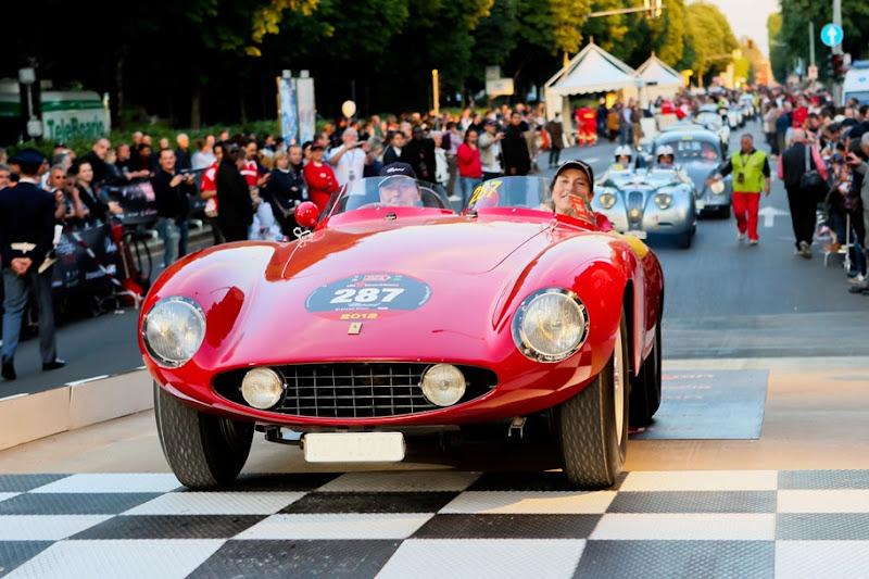Photo: Karl-Friedrich Scheufele and his wife Christine Scheufele roared onto the starting ramp in a Ferrari 750 Monza. http://bit.ly/Jyyuz1