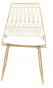 Gold Geometric Chair