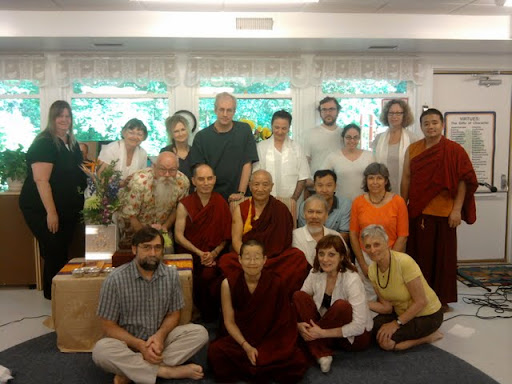 Gyumed Khensur Rinpoche Lobsang Jampa and the students of Guhyasamaja Center, Centreville, Virginia, USA, 2011.
