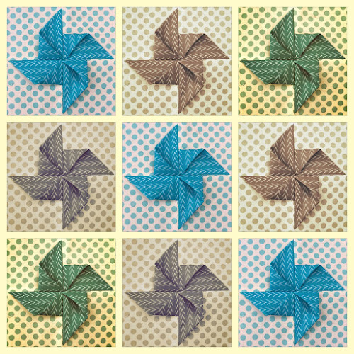 Video tutorial: origami pinwheel quilt block