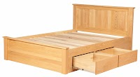 Oak Beds with Storage