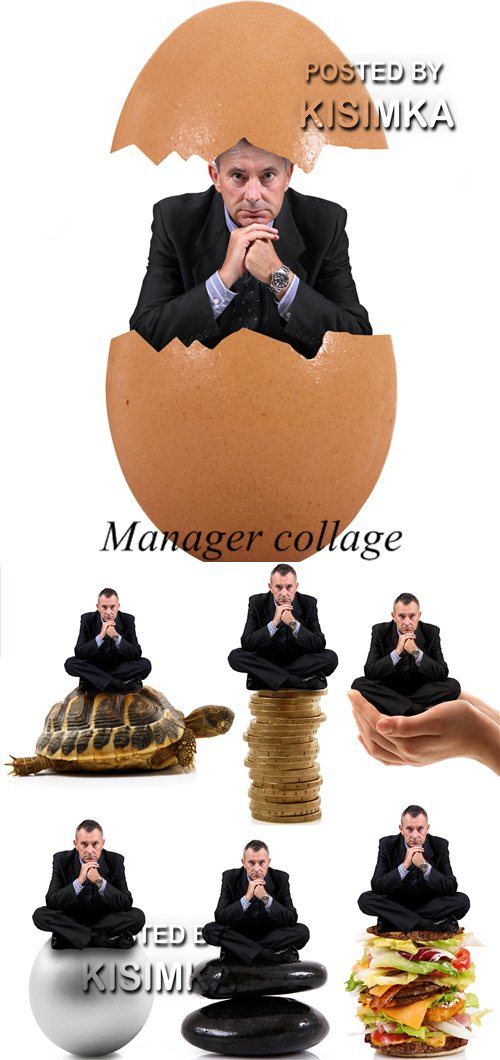 Stock Photo: Manager collage