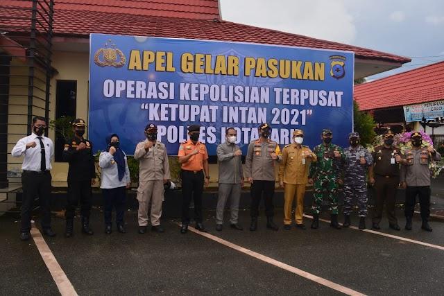 Apel Gelar Pasukan Operasi Kepolisian Terpusat, Ini Pesan Wabup Kotabaru
