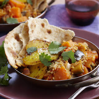 Vegetable Curry with Spiced Potatoes.