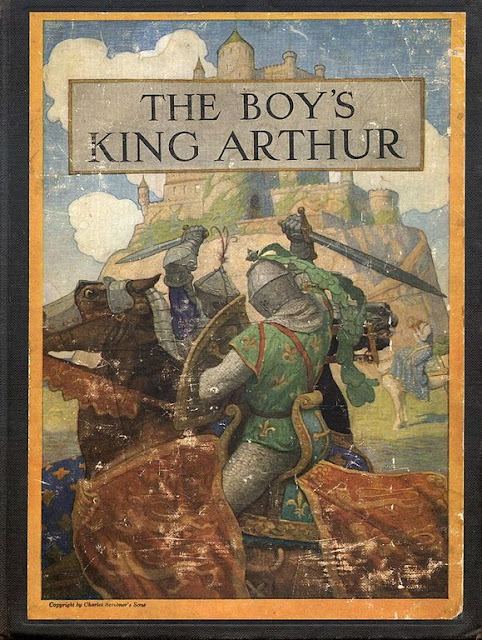N. C. Wyeth - Cover of The Boy's King Arthur