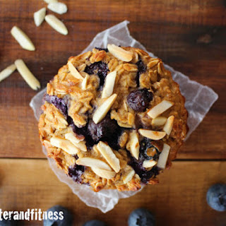 Blueberry Almond Baked Protein Oatmeal Cups.
