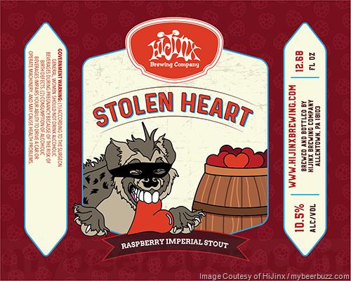 HiJinx Adding Stolen Heart Raspberry Imperial Stout Bottles