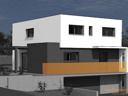Nouveau projet de construction maison en toit plat sur garage accol de 138 - Construction garage accole maison ...