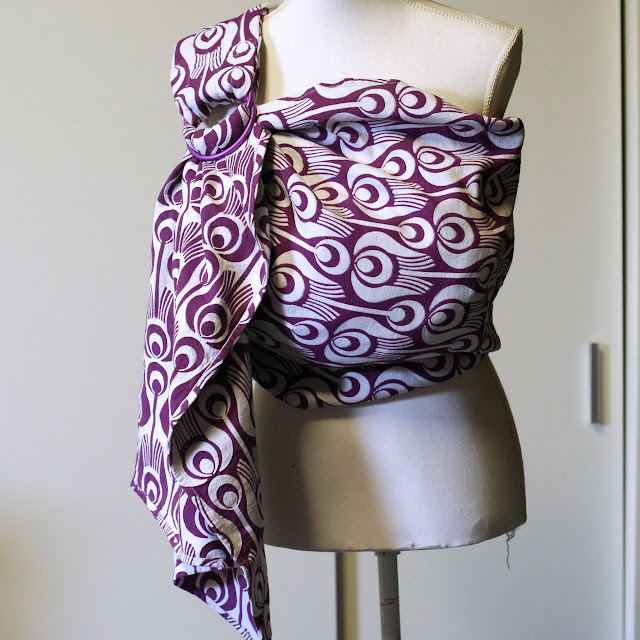 Tinge Garden Wrapconversion Ringsling with Padded Hotdog Shoulder - by MamaMerel Custom Carriers