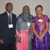 "Professor Bah, Dr. Barro, and Professor Bowen at ""Peacebuilding in West Africa: Looking for Answers"""