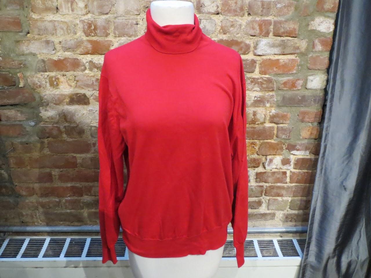 Jaeger Red Turtleneck Sweater