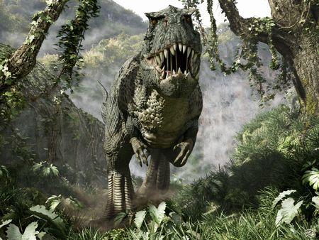 森林での最強恐竜