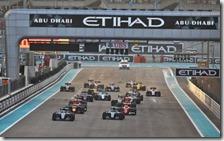 La partenza del gran premio di Abu Dhabi 2016