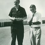 with Francis Crick. Picnic at Osman Sagar, Hyd. 1964.jpg
