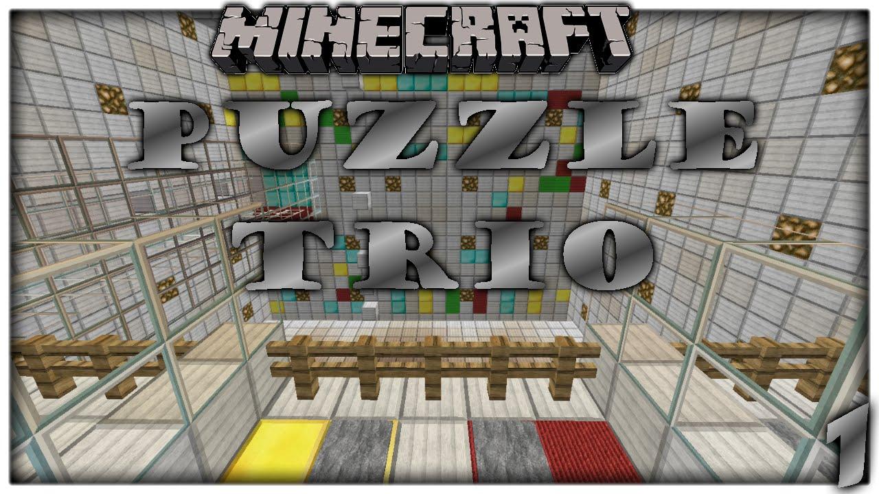Minecraft Puzzle Map Trio
