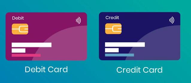 الفرق بين بطاقة الائتمان والخصم المباشر